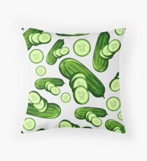 Veggiephile - Cucumbers Throw Pillow