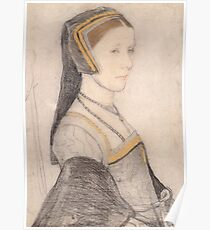 Hans Holbein the Younger - Anne Cresacre  Poster