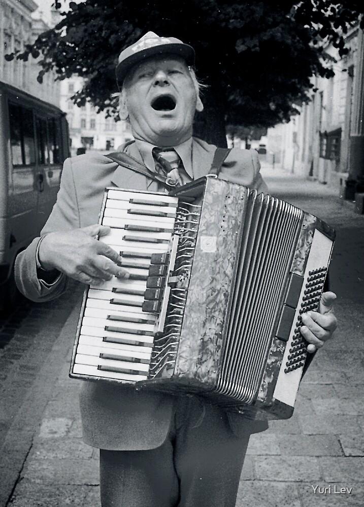 Street Musician, Lviv, Ukraine by Yuri Lev