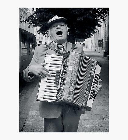 Street Musician, Lviv, Ukraine Photographic Print