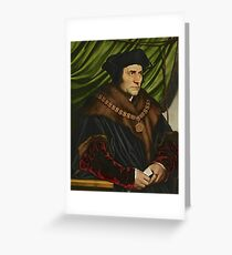 Hans Holbein the Younger - Sir Thomas More Greeting Card