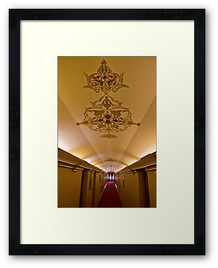 The Amazing Abbasi Hotel - Corridor - Esfahan - Iran by Bryan Freeman