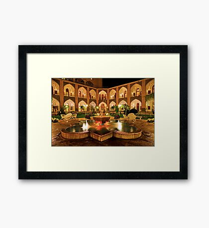 The Amazing Abbasi Hotel - Isfahan - Iran Framed Print