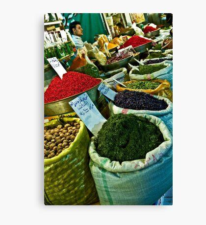 Spice Bazaar - Isfahan - Iran Canvas Print