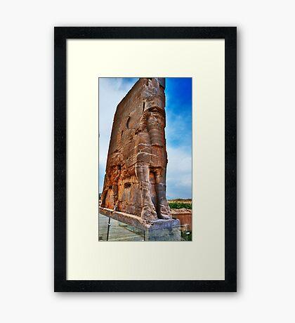 Palace Entrance - Persepolis - Iran Framed Print