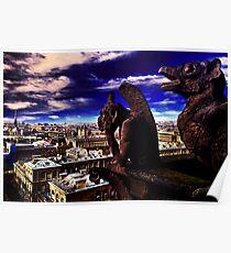 Notre Dame Sculptures Paris Poster