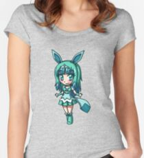Glaceon Magical Girl Chibi Women's Fitted Scoop T-Shirt