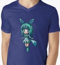 Glaceon Magical Girl Chibi Men's V-Neck T-Shirt