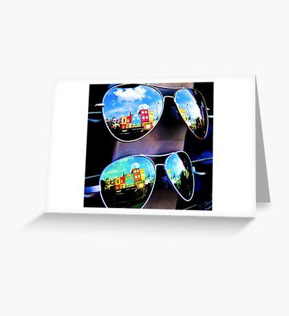 Goggles - Camden Markets - London - England Greeting Card