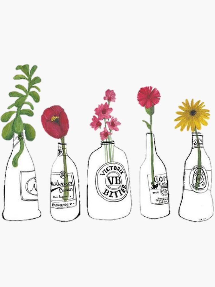 Blumen in Flaschen von erinaugusta