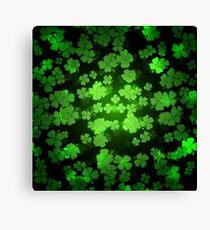 St Patricks day green background Canvas Print