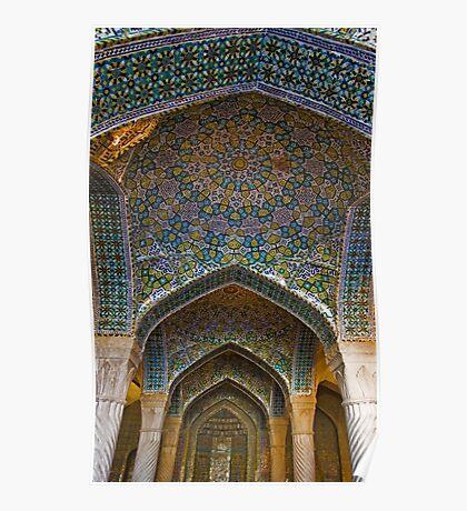 Vakil Mosque Main Entrance - Shiraz - Iran Poster