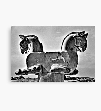 Double Headed Griffin - Persepolis - Iran Canvas Print