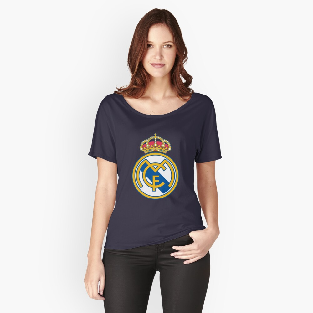 real madrid fc Women's Relaxed Fit T-Shirt Front