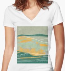 Dreamy Hills III Women's Fitted V-Neck T-Shirt