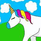 Unicorn in a field by Pamela Maxwell
