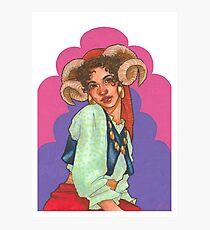 Goat Girl Photographic Print