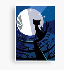 pusmeom  - cat and moon  Canvas Print