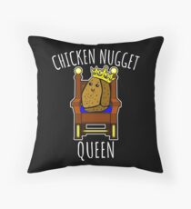 Chicken Nugget Queen - Nuggets gift Throw Pillow