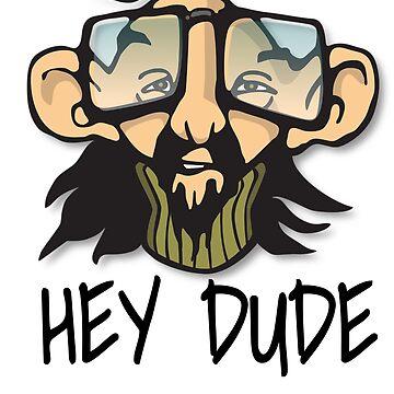 Hey Dude Hillbilly Guy Cartoon Character by eboggles