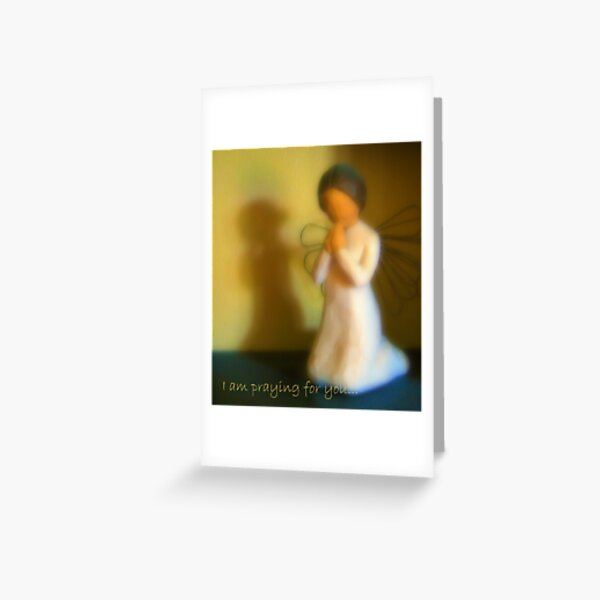 I am praying for you... Greeting Card