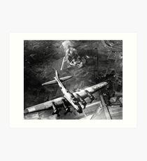 B-17 Bomber Over Germany Painting Art Print