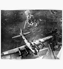 B-17 Bomber über Deutschland-Malerei Poster