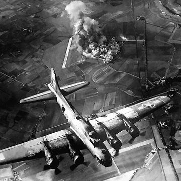Bombardero B-17 sobre Alemania Pintura de warishellstore