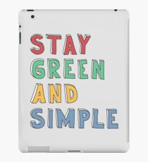 Green and Simple iPad Case/Skin
