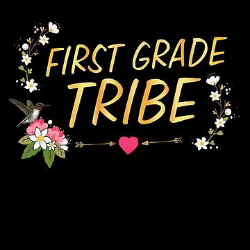 First Grade Tribe 1st Grade Crew Squad Teacher Appreciation by JapaneseInkArt