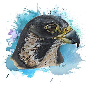 falcon portrait by ilustradsn
