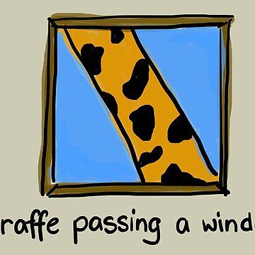 Giraffe Passing a Window by becSamways