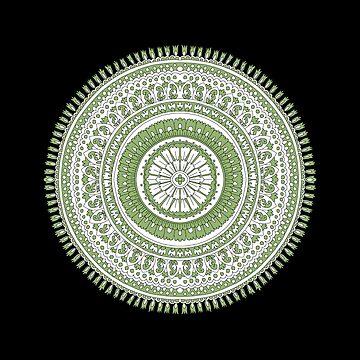Hand Drawn Mandala Block Print Look by justrachna