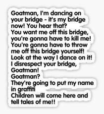 Goatman!!!!!!! Sticker