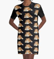 English Bulldog Graphic T-Shirt Dress