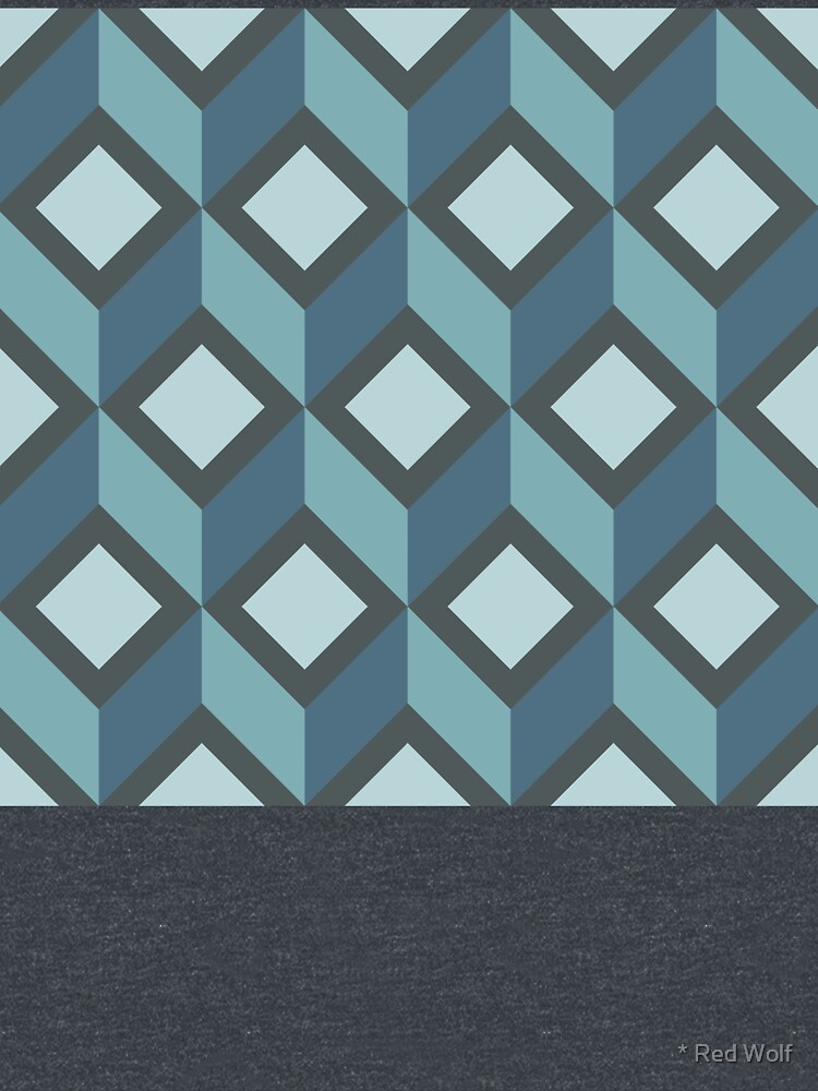 Geometric Pattern: Diamond Chevron: Steel by redwolfoz