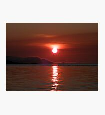 Red Sky In The Morning Photographic Print