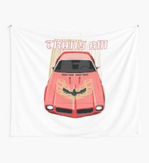 Firebird Trans am 73 -Red and Gold Wall Tapestry