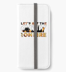 Machine Gun Kelly - let's set the city on fire iPhone Wallet/Case/Skin