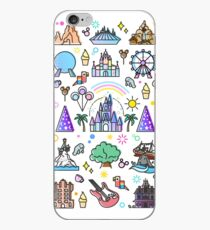 Happiest Place on Earth Collection. It's a Small World, Haunted Mansion, Princess Castle, Manatee, Ferris Wheel Theme Park. iPhone Case