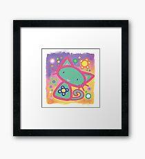 Minty Kitty Framed Print