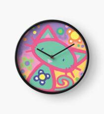 Minty Kitty Clock