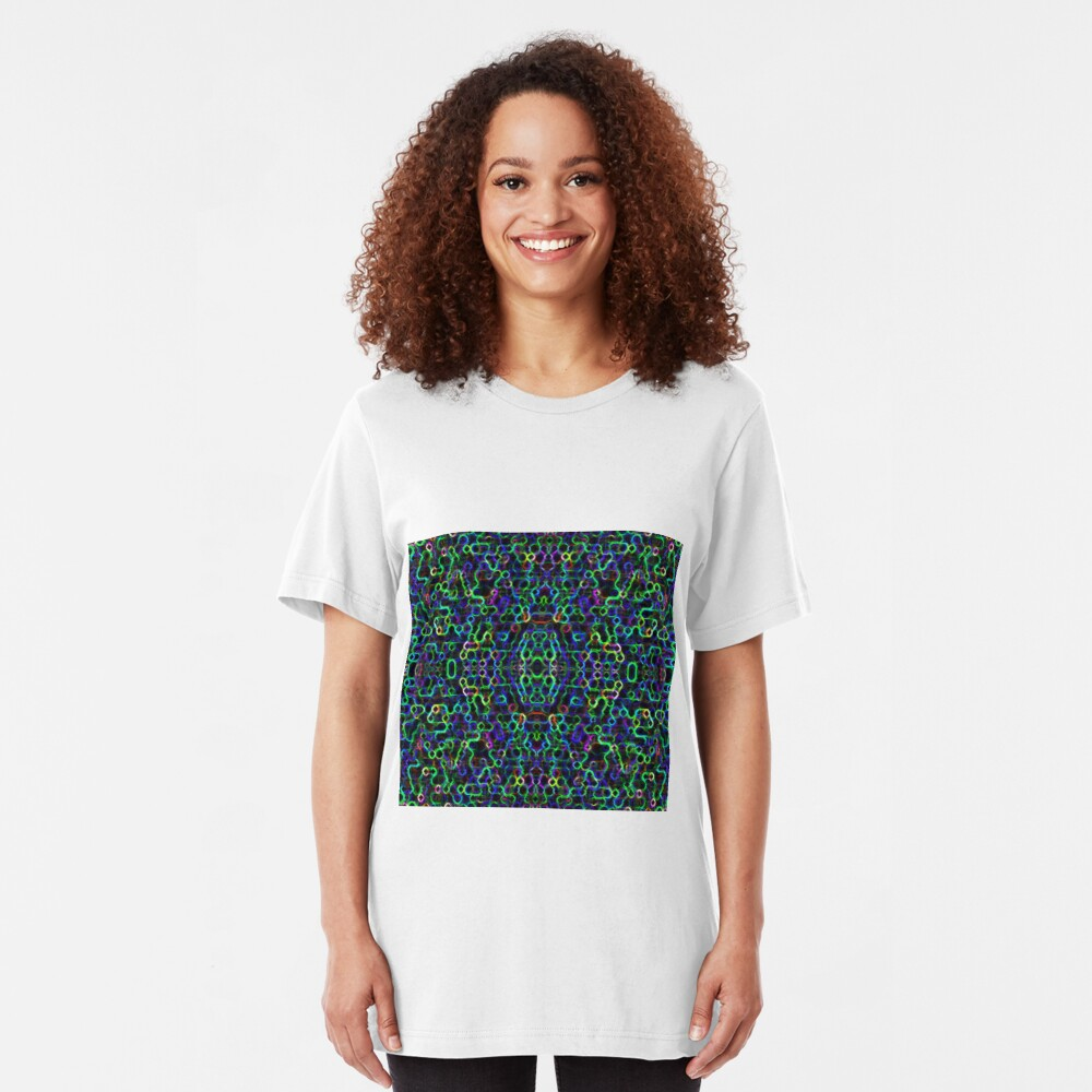 Candy Necklace - Limeberry Slim Fit T-Shirt