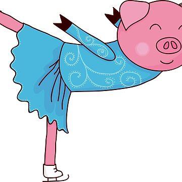 Pig skater by Marishkayu
