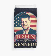 John F Kennedy American Banner T-Shirt Duvet Cover