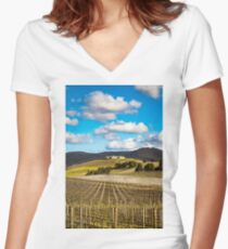 Winery in winter Fitted V-Neck T-Shirt
