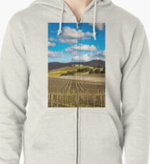 Winery in winter Zipped Hoodie