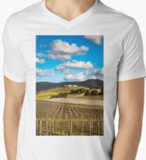 Winery in winter V-Neck T-Shirt