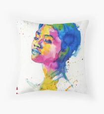 Ink portrait Throw Pillow