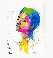 Ink portrait Photographic Print